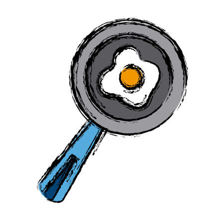 turner: Skillet and turner kitchen utensils icon. Illustration