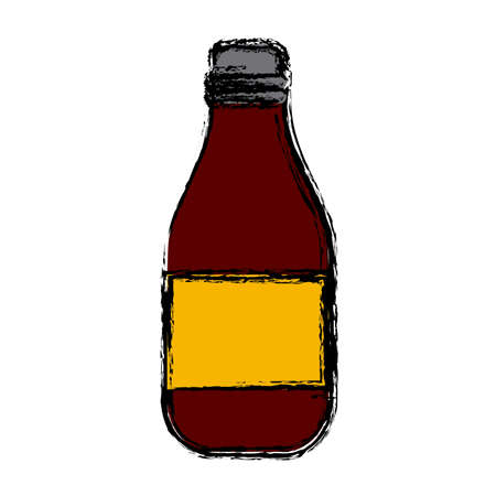 nutritional: Wine glass bottle icon. Illustration