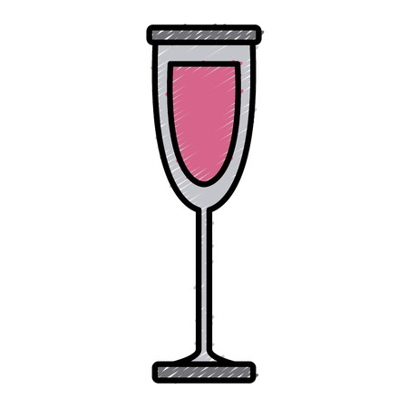 Glass cup isolated icon.