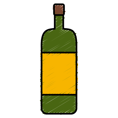 Wine glass bottle icon illustration graphic design.