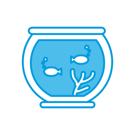 Fishes in bowl icon illustration graphic design.