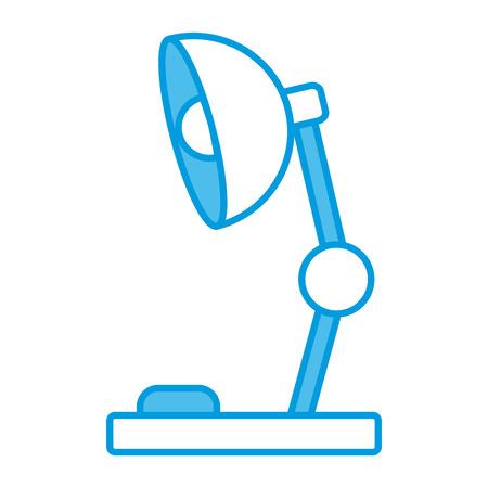 Desk light lamp icon illustration graphic design.