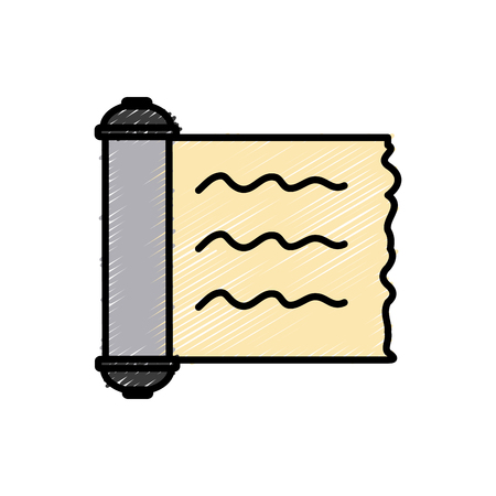 Papyrus scroll isolated icon illustration graphic design. Ilustração