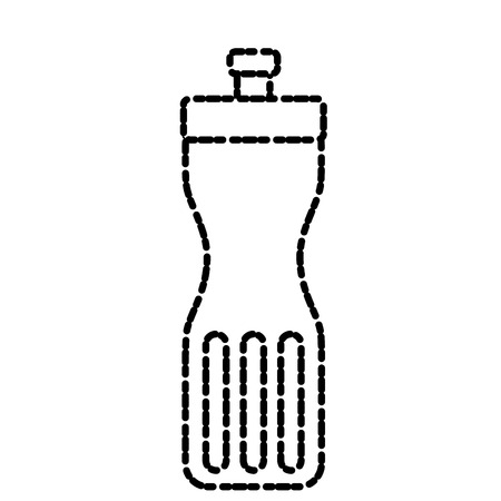 Thermo water bottle icon.