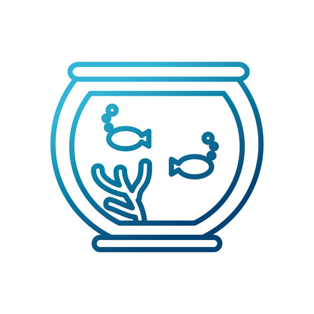 Fishes in bowl icon vector illustration graphic design Illustration