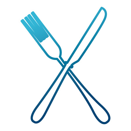modern kitchen: Fork and knife kitchen cutlery icon vector illustration graphic design