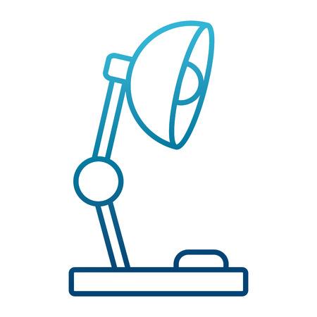 Desk light lamp icon vector illustration graphic design
