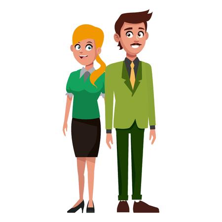 Teachers teamwork couple icon vector illustration graphic design Illustration