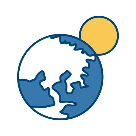 Earth world isolated icon vector illustration graphic design Illustration