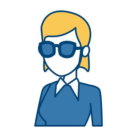 School teacher cartoon icon vector illustration