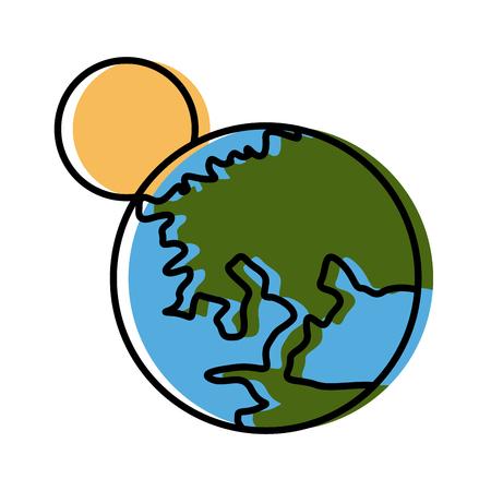 Earth world isolated icon vector illustration Illustration