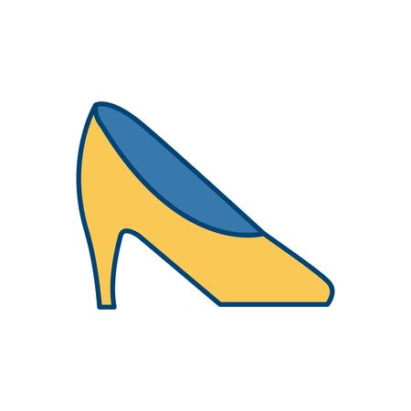 ceo office: Executive High heel icon vector illustration