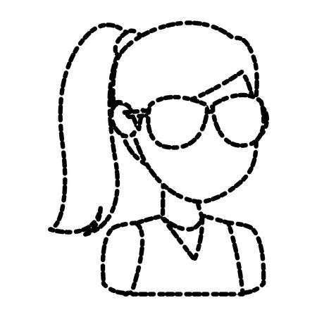 Girl faceless cartoon icon vector illustration graphic design Illustration
