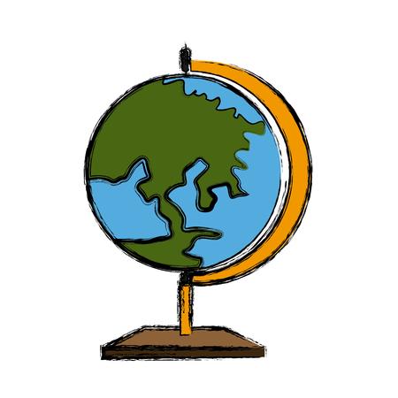 territory: School Earth globe icon vector illustration graphic design