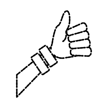Woman hand thumb up icon vector illustration graphic design