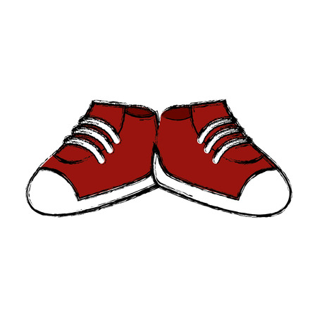 Shoes footwear isolated icon vector illustration graphic design