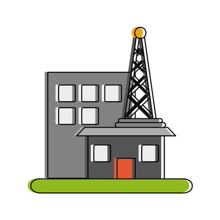 Antenne met station telecommunicaties verwant pictogram afbeelding vector illustratie ontwerp. Stockfoto - 88356317
