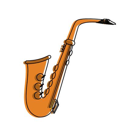 saxophone musical instrument icon image vector illustration design Illustration