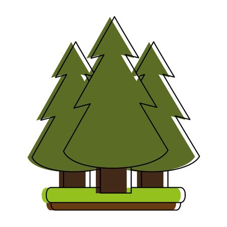 coniferous forest: diseño del ejemplo del vector de la imagen del icono del bosque del árbol de pino