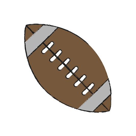 ball american football related icon image vector illustration design