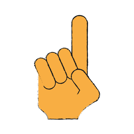 foam finger icon image vector illustration design