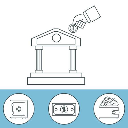 Money certificate of deposit icon vector illustration graphic design