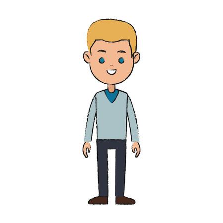 Happy Boy cartoon icon image vector illustration design