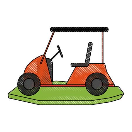 Golf cart pictogram afbeelding vector illustratie ontwerp