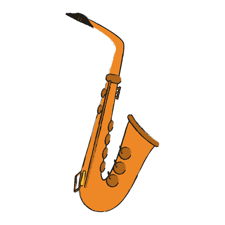 saxophone musical instrument icon image vector illustration design Illustration