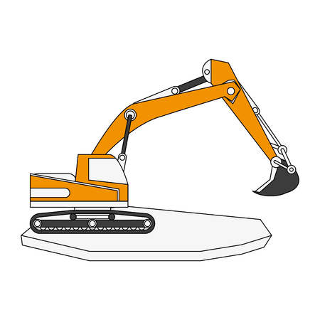 backhoe heavy machinery construction icon image vector illustration design Illustration