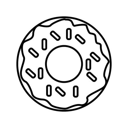 Delicious donut dessert icon vector illustration graphic design Illustration