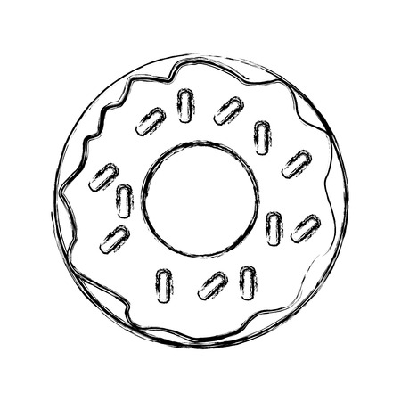 Delicious donut dessert icon vector illustration graphic design Illustration