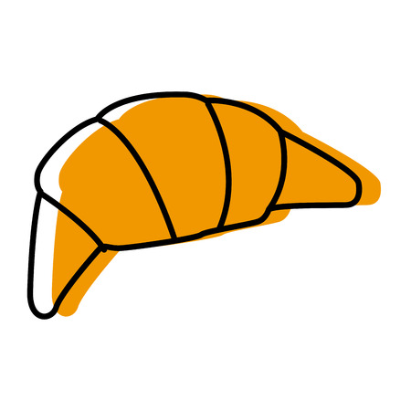 Croissant french bread icon.