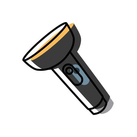 Flashlight isolated symbol icon. Illustration