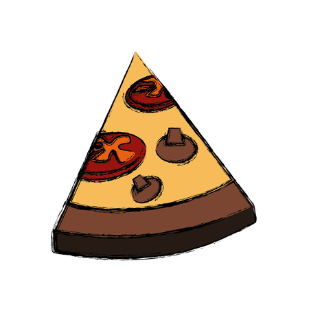 Delicious pizza fast food icon vector illustration graphic design Illustration