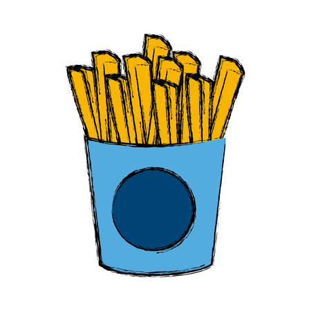 French fries food icon vector illustration graphic design Illustration