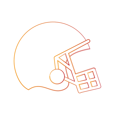 helmet american football related icon image vector illustration design