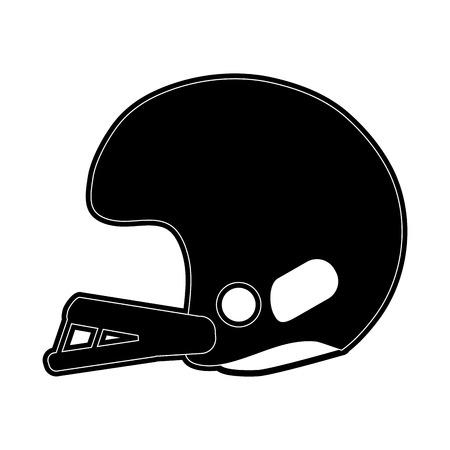 helmet american football related icon image vector illustration design