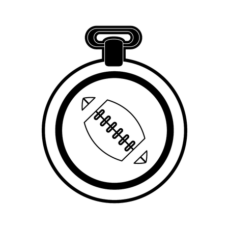 medal with ball american football related icon image vector illustration design