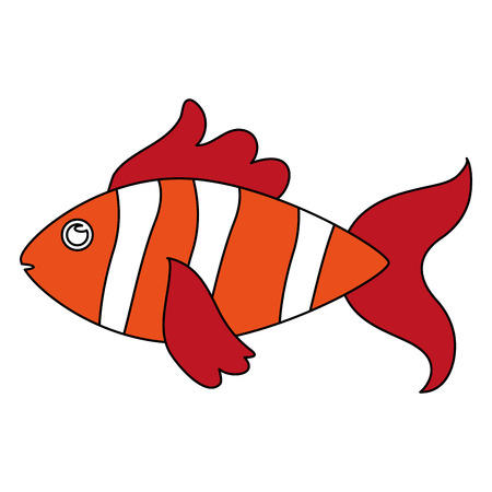 fish sideview icon image vector illustration design black and white
