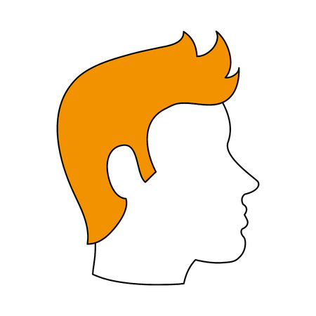 man dark skin avatar head sideview icon image vector illustration design