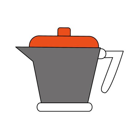 kettle coffee beverage icon image vector illustration design Illustration