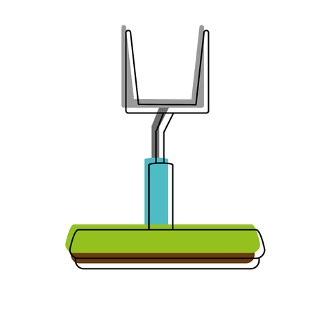 goal post american football related icon image vector illustration design Illustration