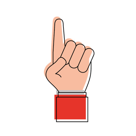part of me: hand with index finger up icon image vector illustration design
