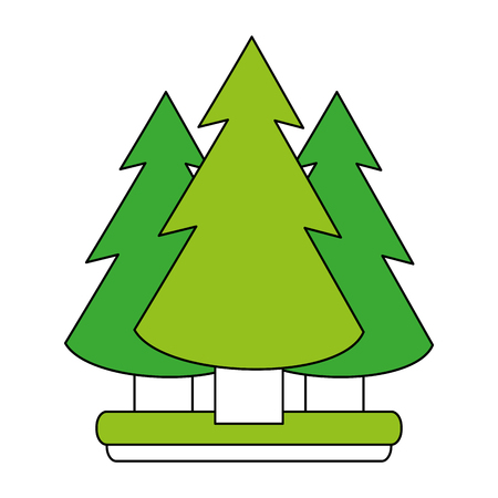 wilderness area: pine tree forest icon image vector illustration design