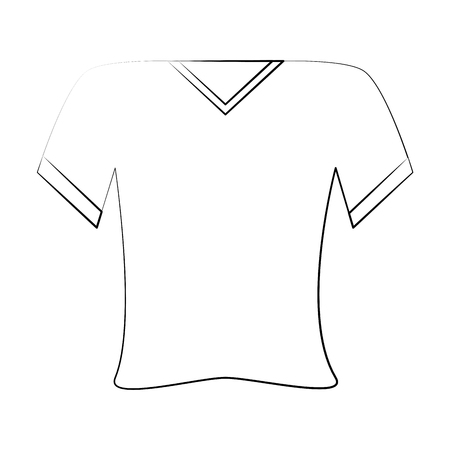 shirt v neck icon image vector illustration design  black sketch line Illusztráció