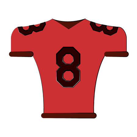 jersey number 8 american football related icon image vector illustration design