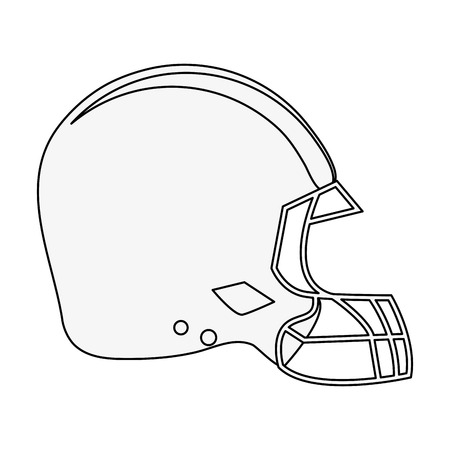 helmet american football related icon image vector illustration design  black line