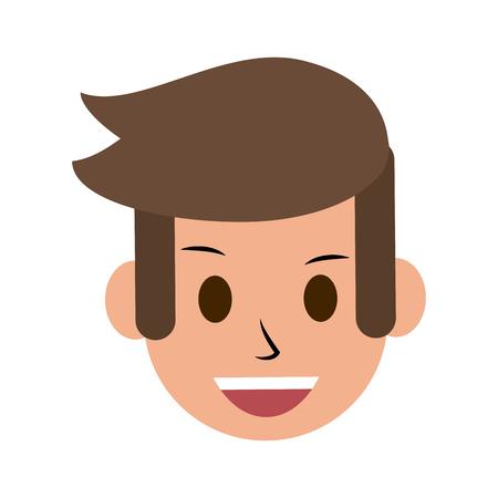 man smiling icon image vector illustration design