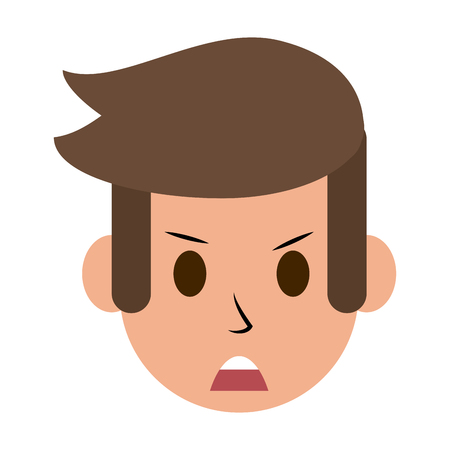 emotional stress: man angry  icon image vector illustration design Illustration